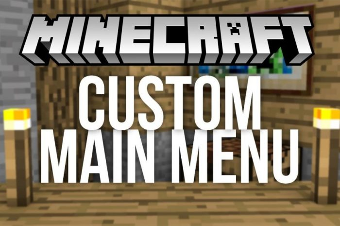Мод Custom Main Menu Minecraft