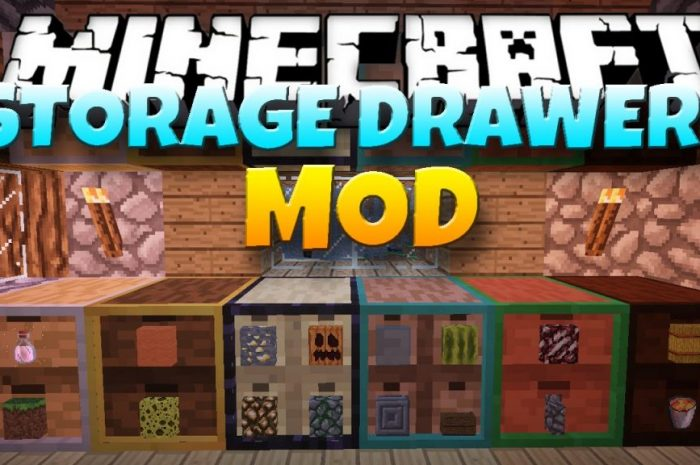 Мод Storage Drawers Minecraft