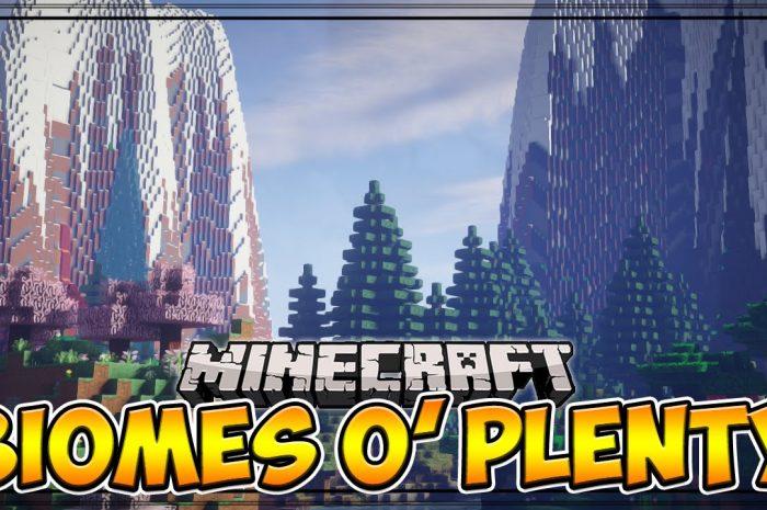 Мод Biomes O' Plenty Minecraft