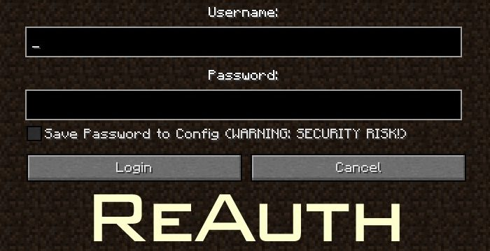 Мод ReAuth Minecraft