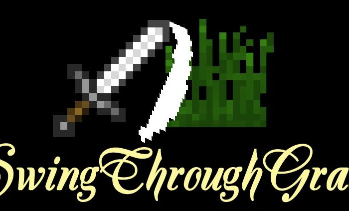 Мод SwingThroughGrass Minecraft