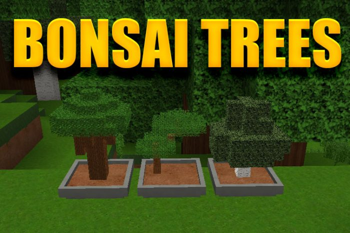 Мод Bonsai Trees Minecraft