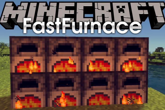 Мод FastFurnace Minecraft