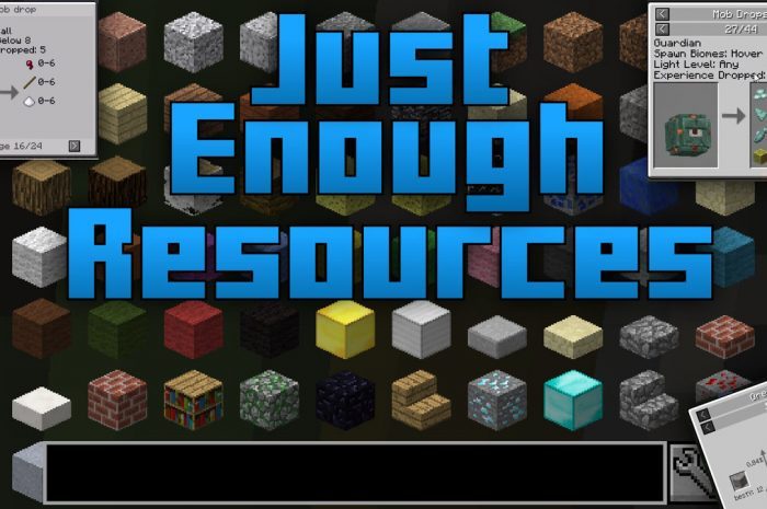 Мод Just Enough Resources (JER) Minecraft