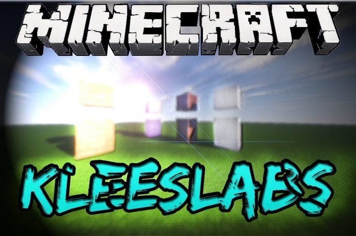 Мод KleeSlabs Minecraft