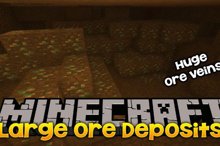 Мод Large Ore Deposits Minecraft