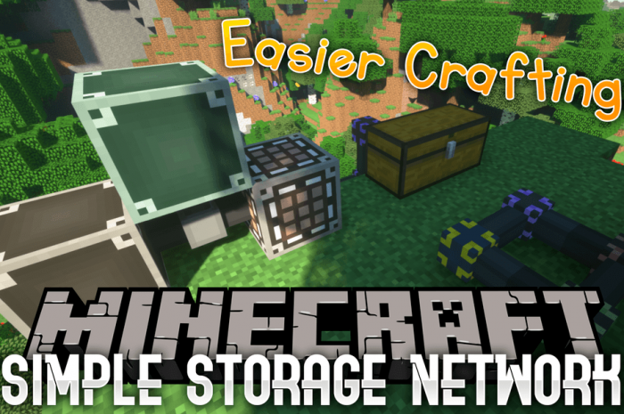Мод Simple Storage Network Minecraft