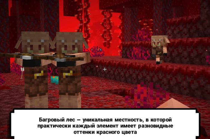 Как найти багровый лес в Minecraft