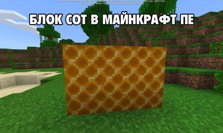 Блок пчелиных сот Minecraft внешний вид