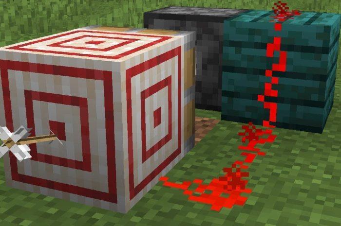 Как сделать мишень в Minecraft